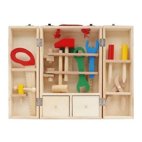 Image of   Værktøjskasse i træ 25 dele