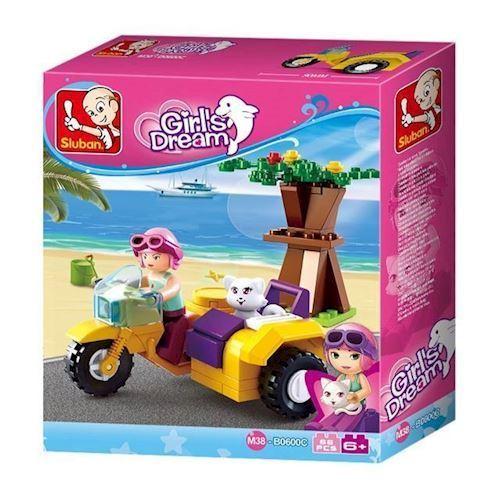 Image of Sluban Girls Dream Motorcykel med sidevogn (8719558070541)