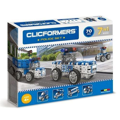 Image of Clicformers - Politi sæt med 70 dele (8809465532871)