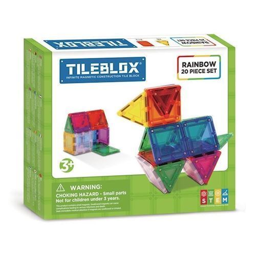 Image of Magformers Tileblox regnbuesæt 20 dele (8809465533991)