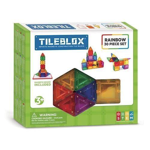 Image of Magformers Tileblox regnbuesæt 30 dele (8809465534004)