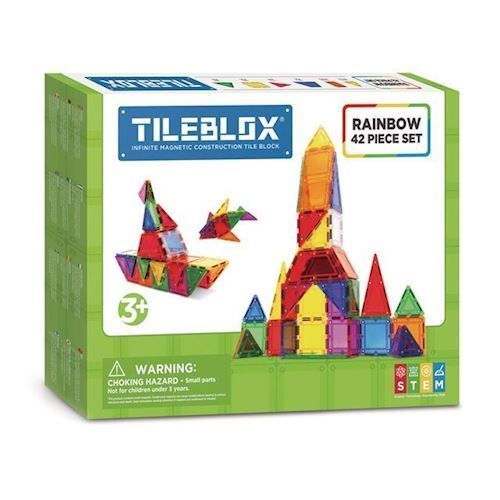 Image of Magformers Tileblox Regnbuesæt 42 dele (8809465534011)