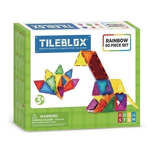Image of Magformers Tileblox regnbuesæt 60 dele (8809465534028)