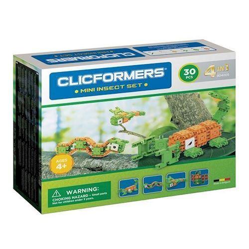 Image of Clicformers Mini Insekter sæt 4 i 1, 30 dele. (8809465534196)