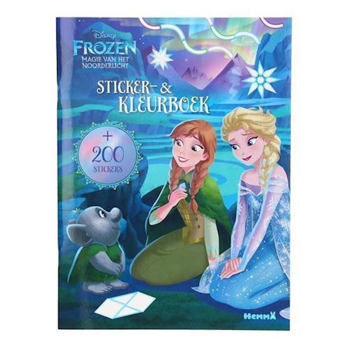 Image of   Disney Frozen klistermærke og malebog