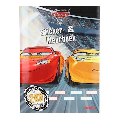 Image of Cars 3 klistermærke og malebog (9789052956053)