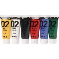Akrylmaling A-Color, 02 mat 6x20 ml