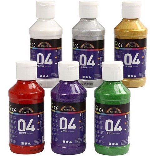 Image of   Akrylmaling A-Color, 04 glitter 6x120 ml