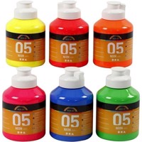 Akrylmaling A-Color, 05 neon farver 6x500 ml
