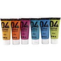 Akrylmaling A-Color, 04 glitter 6x20 ml