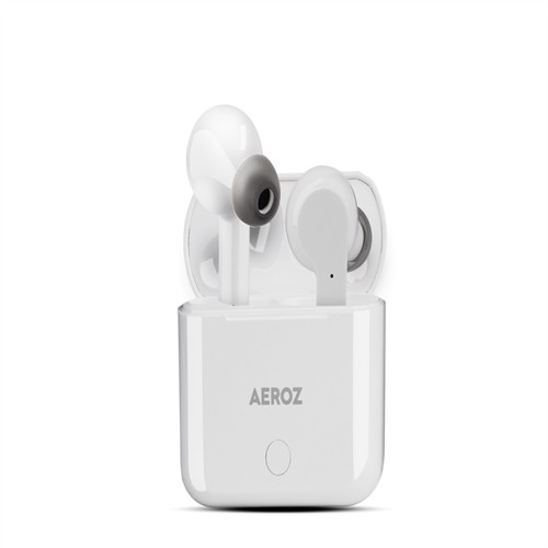 Image of AEROZ - TWS-122 WHITE - True Wireless Stereo earbuds with charging case (5711336029249)