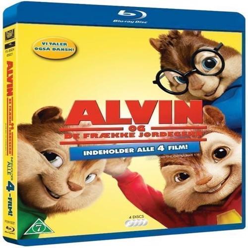 Image of Alvin And The Chipmunks 14Alvin Og De Frække Jordegern 14 4Disc Blu-Ray
