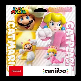 Image of Amiibo Cat Mario & Cat Peach (0045496380908)