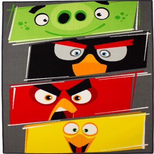 Image of Angrybirds Gulvtæppe Til Børn 133X95