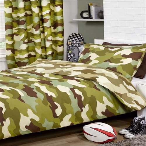 Image of Army Camouflage Vendbart Sengetøj