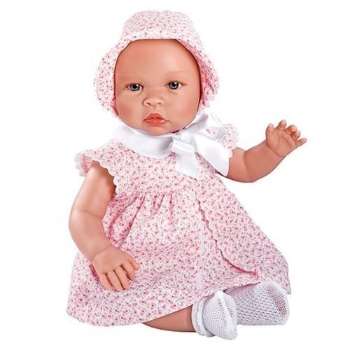Image of   Dukke, Leonora baby dukke med rosa kjole 46 cm, Asi