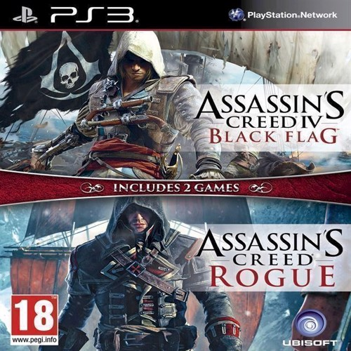 Image of Assassins Creed IV 4 Black Flag Assassins Creed Rogue Nordic - PS3 (3307215888827)