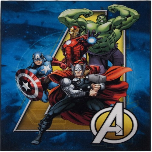 Image of Avengers Ateam Deluxe Gulvtæppe Til Børn 95X125