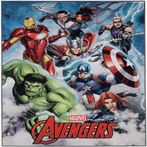Image of Avengers Marvel Deluxe Gulvtæppe Til Børn 95X125