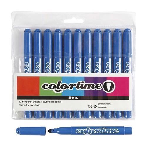 Image of Colortime - Jumbo Tuscher - Frisk Blå, 12stk