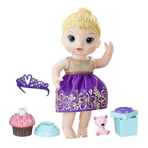 Image of Baby Alive - Cupcake fødselsdags Baby - Blond (5010993461301)