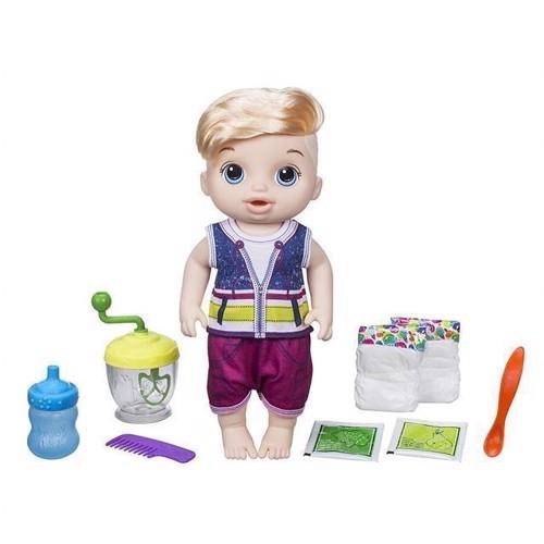 Image of Baby Alive dukke, sød skefuld, blond dreng (5010993461431)