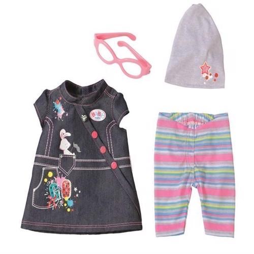 Image of Baby Born dukketøj, kjole i denim med tilbehør (1090453)