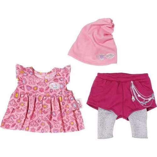 Image of Baby Born dukketøj, modepakke lyserød og sølv (1010900)