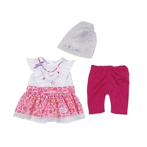 Image of Baby Born dukketøj, modepakke, hvid og lyserød (1010899)