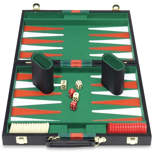 Image of Backgammon i kuffert