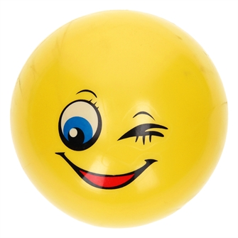 Image of Ball Happy Smile Face, 14 cm (8718012025219)