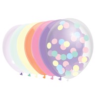 Balloons Pastel, 10 pieces.
