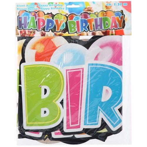 Image of Banner Happy Birthday, 132 cm