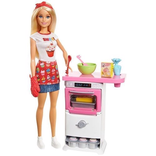 Image of Barbie, bager dukke med tilbehør (0887961526851)