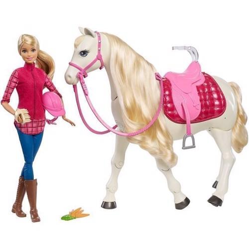 Image of   Barbie - Barbie med drømmehest (FRV36)