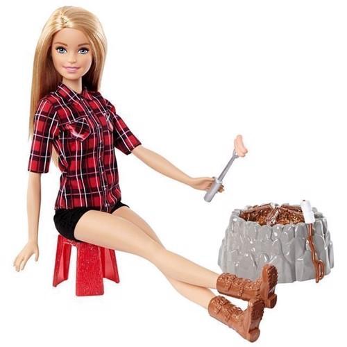 Image of   Barbie - Camping sjov dukke