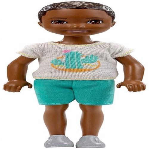 Image of   Barbie, Chelsea og venner, dukke med brunt hår, dreng