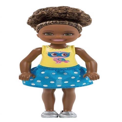Image of   Barbie - Chelsea og venner, dukke med brunt hår