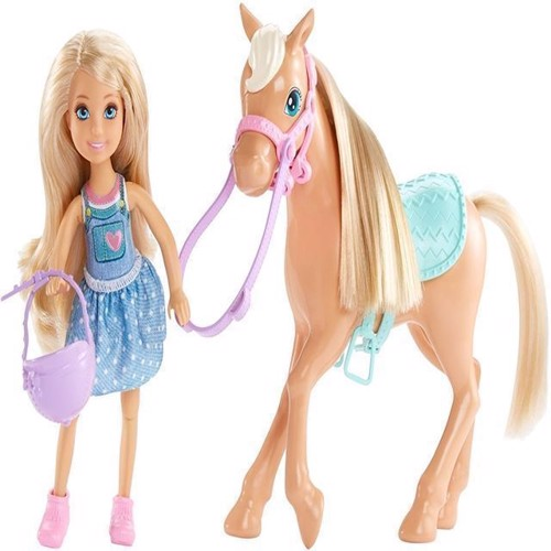 Image of   Barbie - Chelsea og Pony (DYL42)