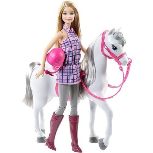 Image of   Barbie, barbie dukke med hest