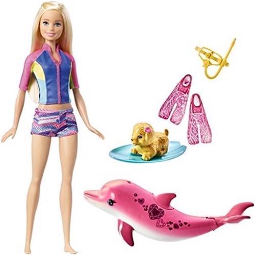 Image of   Barbie - delfin Snorkel dukke (FBD63)
