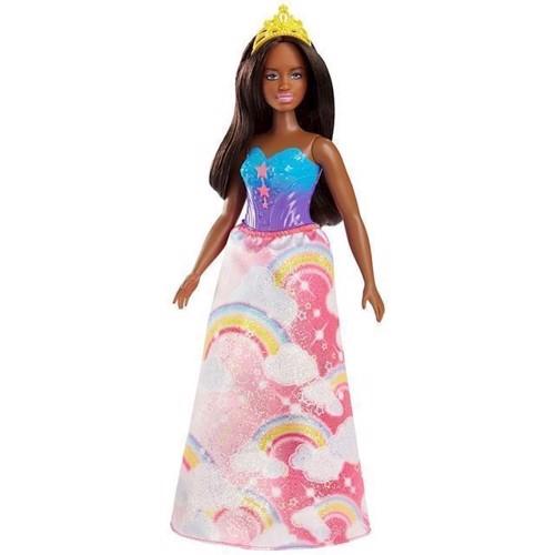 Image of   Barbie - Dreamtopia prinsesse dukke mørk regnbue (FJC98)
