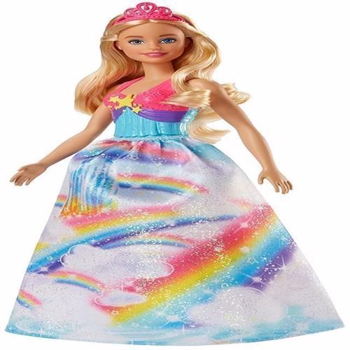 Image of   Barbie, Dreamtopia prinsesse dukke med regnbue kjole