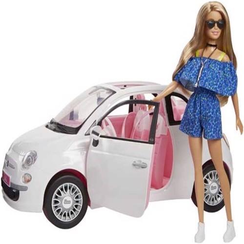 Image of   Barbie, Fiat 500 med dukke