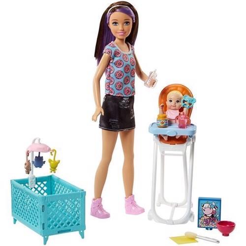 Image of Barbie, Skipper babysitter legesæt