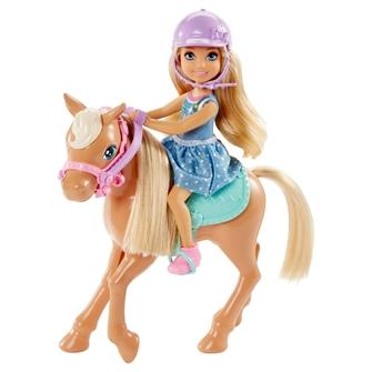 Image of Barbie Club Chelsea dukke med pony