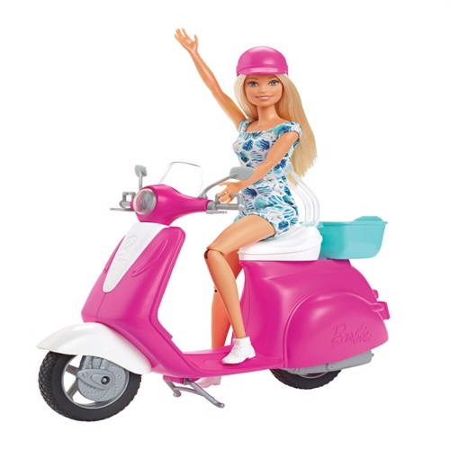 Image of Barbie Dukke Og Scooter Gbk85