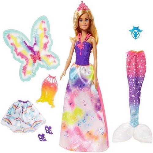 Image of Barbie - Dreamtopia Dukke M. 3 Kostumer