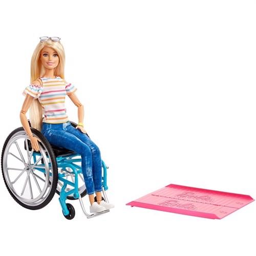 Image of Barbie Fashionista med kørestol blond