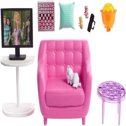 Image of Barbie indendørs møbler, stue med køkken FXG35